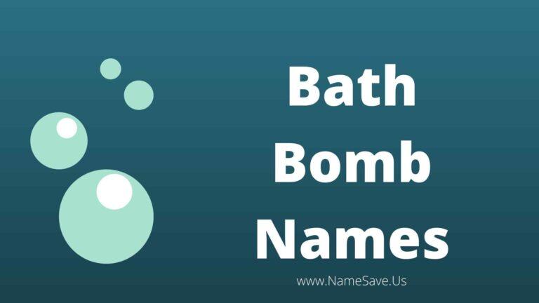 Bath Bomb Names