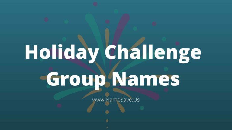 Holiday Challenge Group Names