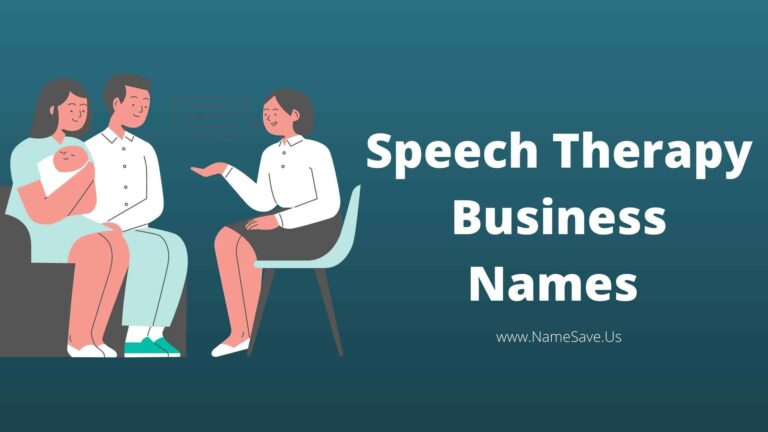 Speech Therapy Business Names